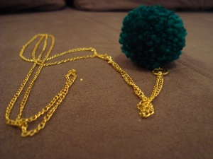 Colier handmade Fluffy Green